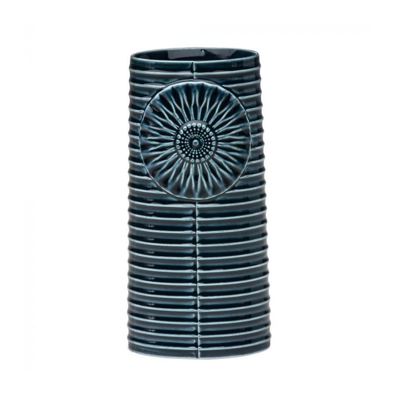 finnsdottir – Finnsdottir vase, pipanella lines oval, petrol fra superlove