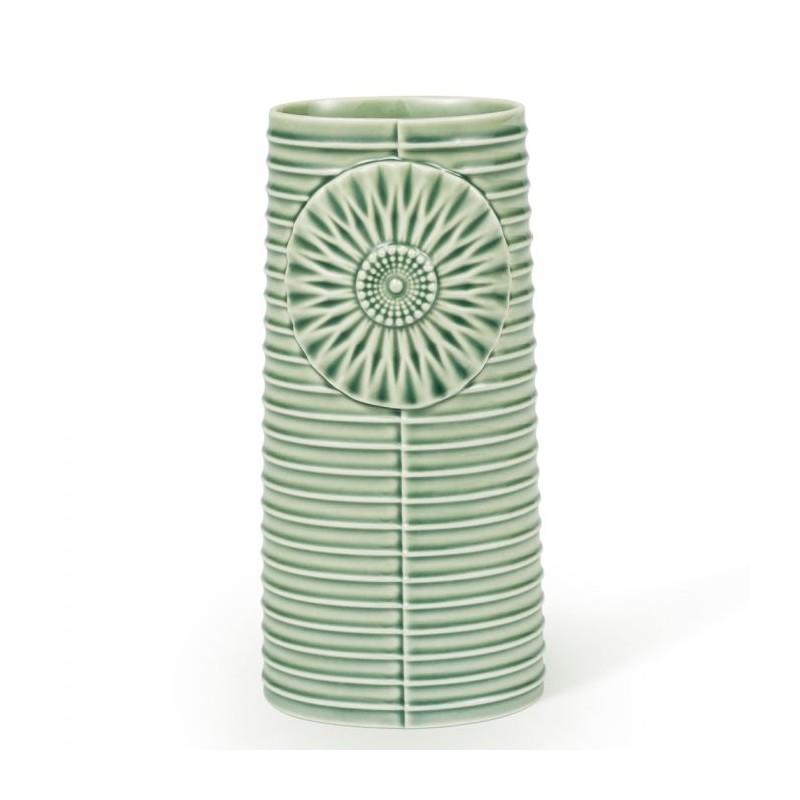 Image of   Finnsdottir Vase, Pipanella Lines Oval, Grøn
