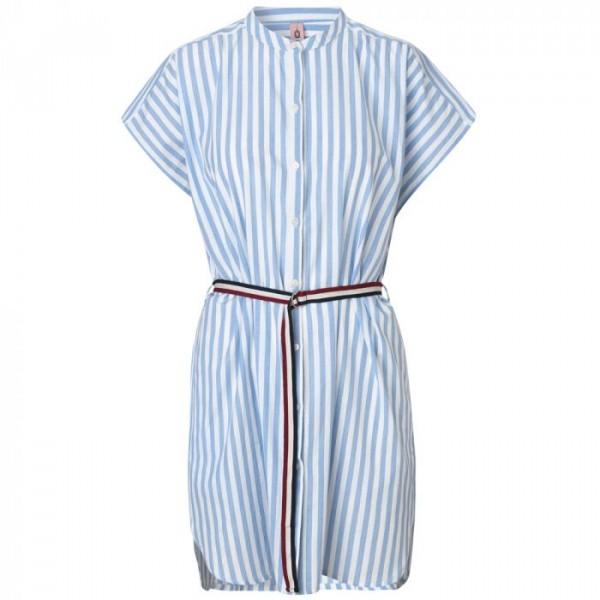 beck söndergaard – Beck söndergaard kjole, casey, lys blå/hvid - størrelse - m/l fra Edgy.dk
