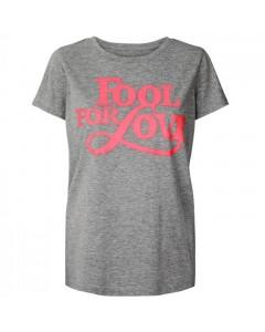 Lollys Laundry T-shirt, Roma, Lys Grå/Pink
