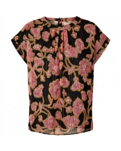 Lollys Laundry Top, Deva, Pink/Sort