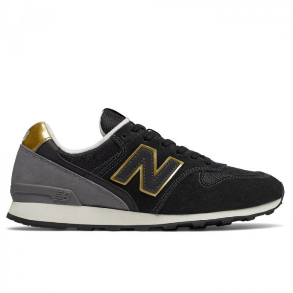 New Balance Sneakers, 996, Sort/guld - Størrelse - 37.5