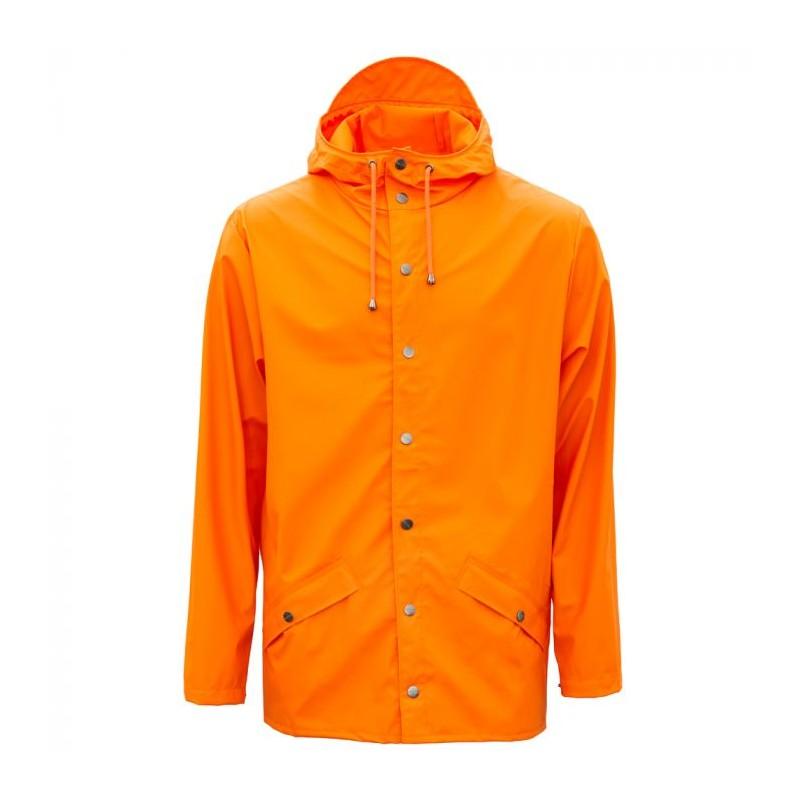 Rains Regnjakke, Kort, Fire Orange