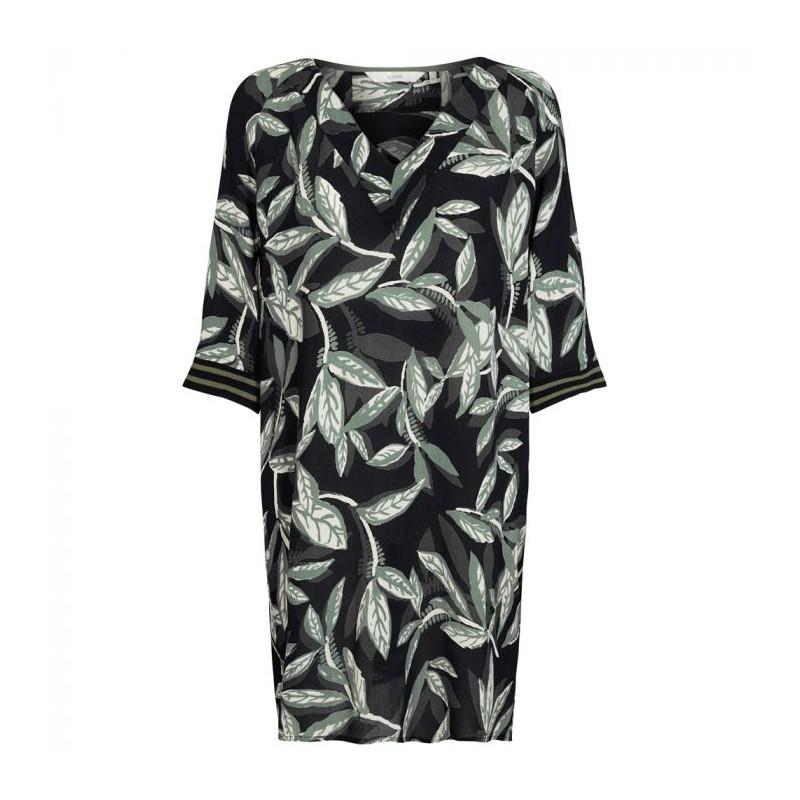 Nümph dress, felicia, black/olive green - størrelse - 34 fra nümph fra superlove