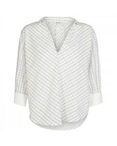 And Less Bluse, Aberto, Hvid/Sort