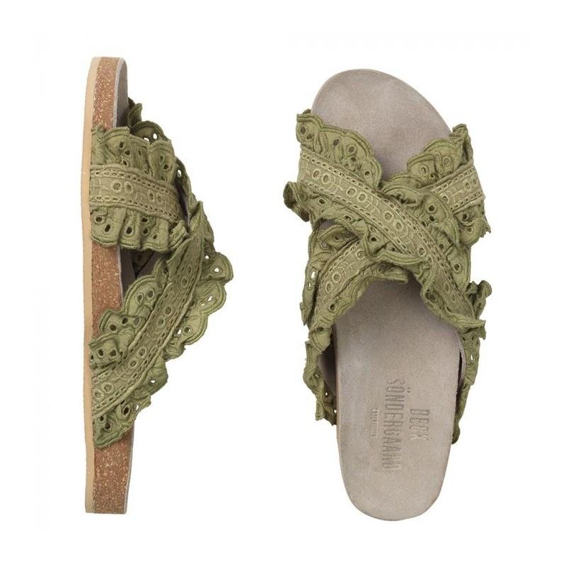 beck söndergaard Beck söndergaard sandaler, angla, khaki - størrelse - 40 fra Edgy.dk