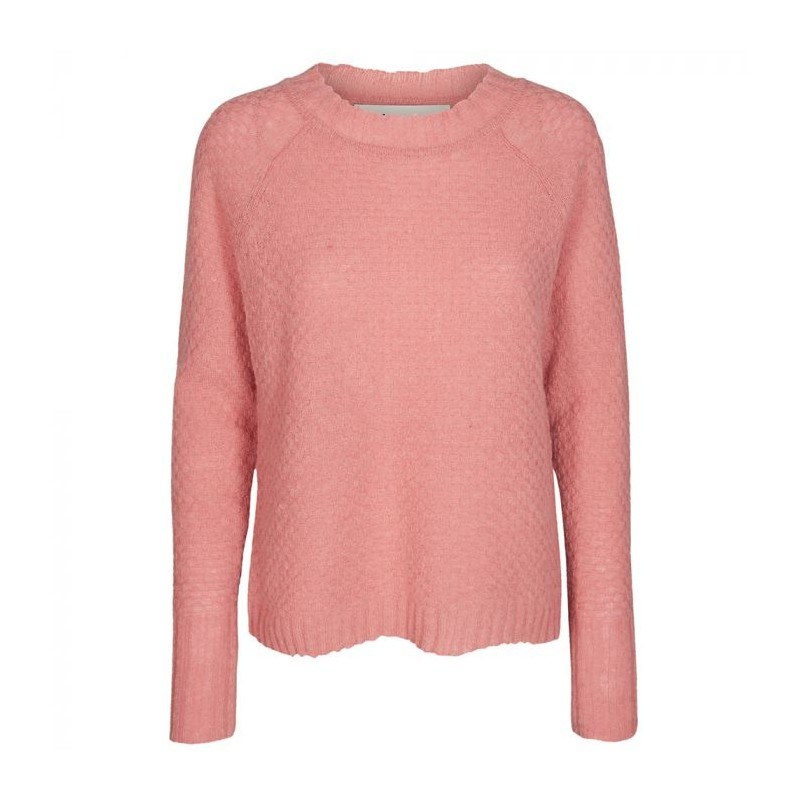 Image of   And Less Strikbluse, Allecra, Dusty Rose