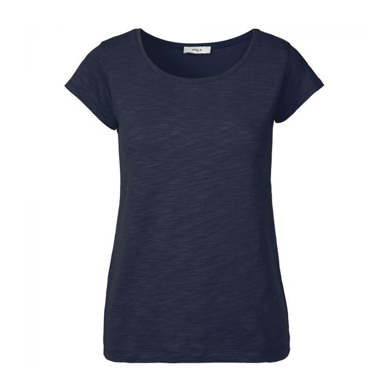 stig p stig p t-shirt, liu organic, navy - størrelse - m