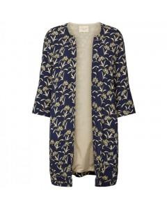 Lollys Laundry Kimono, Sika, Mørkeblå/Lysegul
