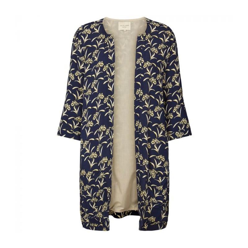 lollys laundry – Lollys laundry kimono, sika, mørkeblå/lysegul - størrelse - m på superlove