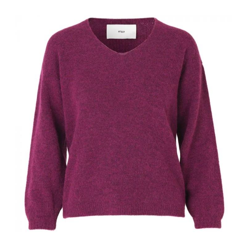 stig p Stig p sweater, kamil, fuchsia - størrelse - m fra superlove