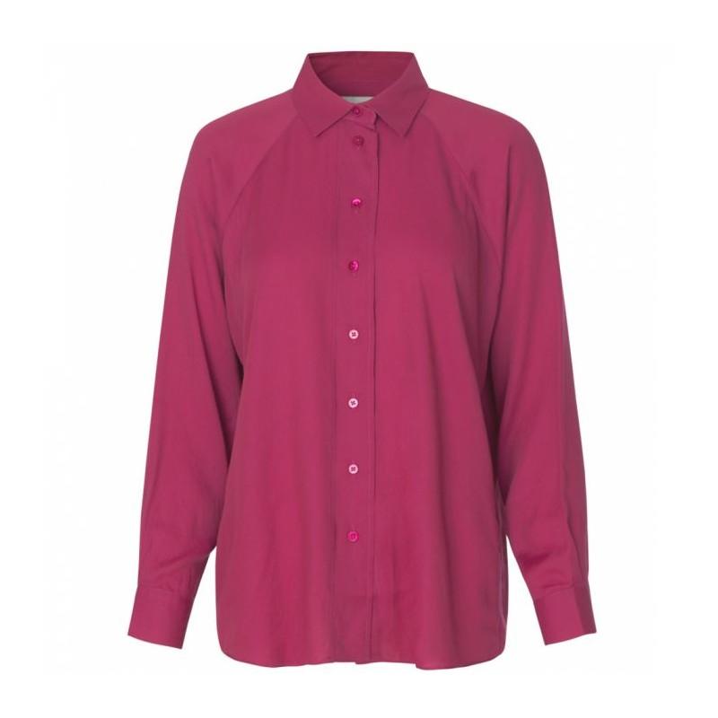 Stig p skjorte, rakel, mørk pink - størrelse - l fra stig p på superlove