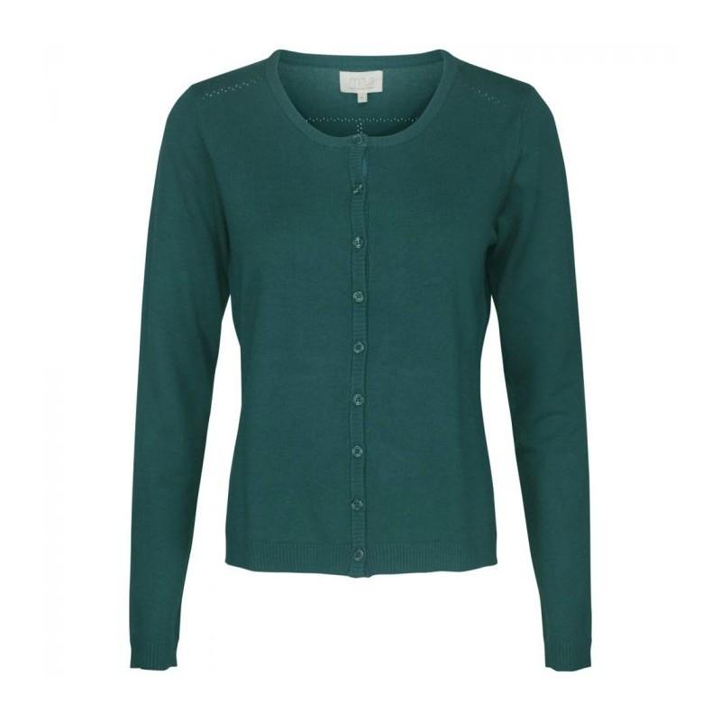 Minus cardigan, new laura, fir green melange - størrelse - xl fra minus fra superlove