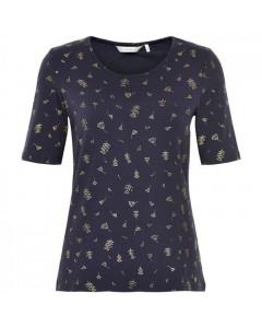 Nümph T-shirt, Fidelia, Blå/Guld