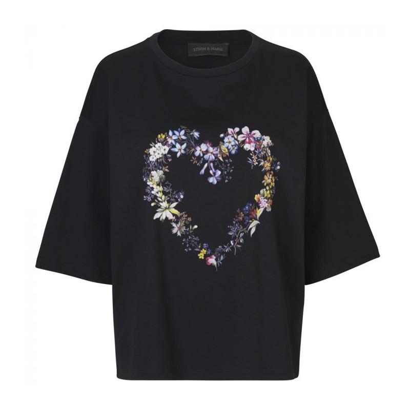 Image of   Storm & Marie T-shirt, Past LS, Sort/Multi