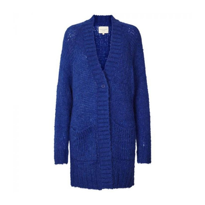 lollys laundry – Lollys laundry cardigan, carrie, blå - størrelse - 2 på superlove