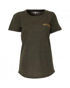 Six Ames T-shirt, Dee Logo, Meleret Grøn