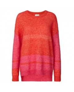 Lollys Laundry Sweater, Finley, Orange/Pink