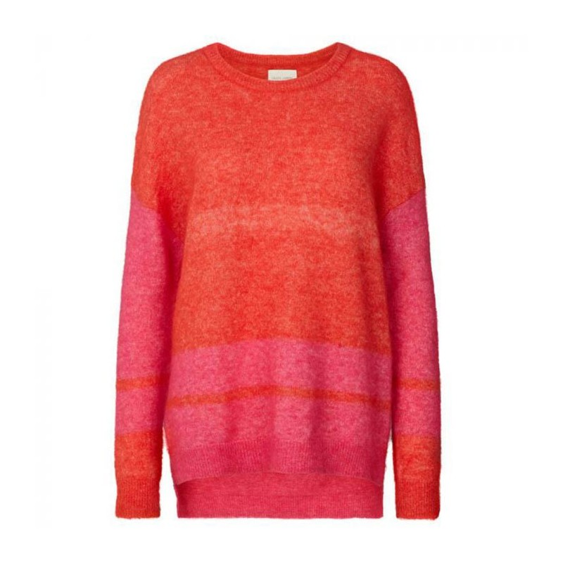 lollys laundry – Lollys laundry sweater, finley, orange/pink - størrelse - xs på superlove