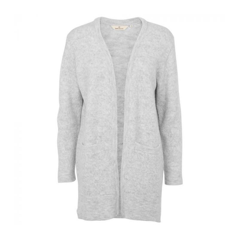 Image of   Basic Apparel Cardigan, Hirse, Light Grey Mel