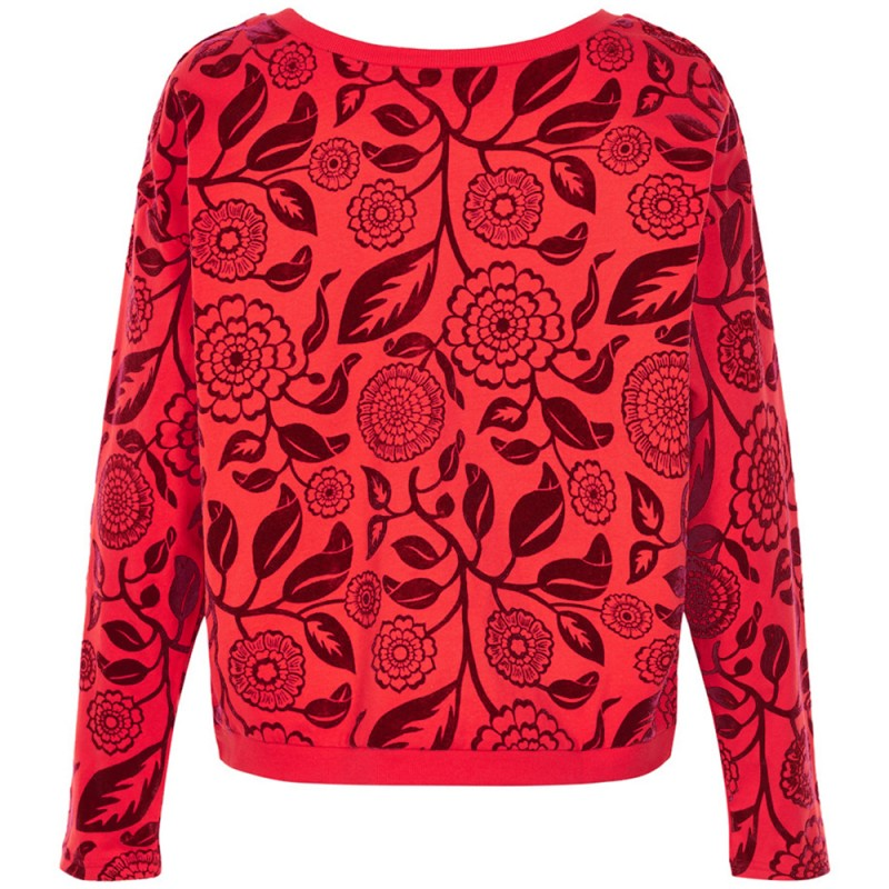 nümph Nümph sweatshirt, evaline, rød/bordeaux - størrelse - s fra superlove