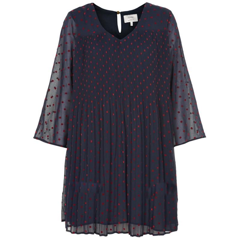 nümph – Nümph kjole, embeth, blå/rød - størrelse - 38 på superlove