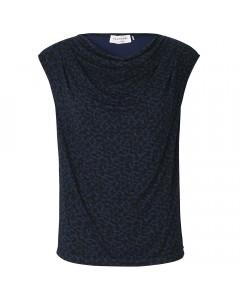 Rosemunde Tank Top, T-shirt LS m. Vandfald, Mørkeblå/Leo