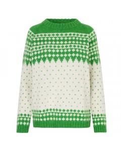 Mads Nørgaard Sweater, Kanona, Creme/Grøn