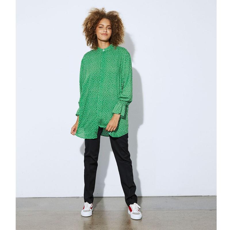 mads nørgaard – Mads nørgaard skjorte, saxona, grøn/hvid - størrelse - 40 på superlove