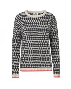 Mads Nørgaard Sweater, Kimilla Crew, Sort/Hvid