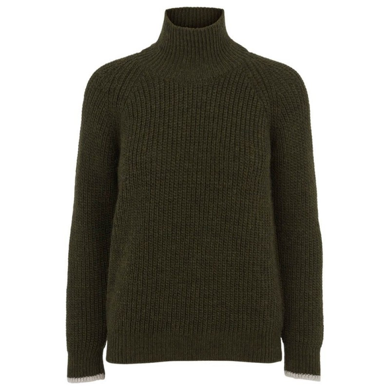 Image of   Basic Apparel Sweater, Pernille, Armygrøn