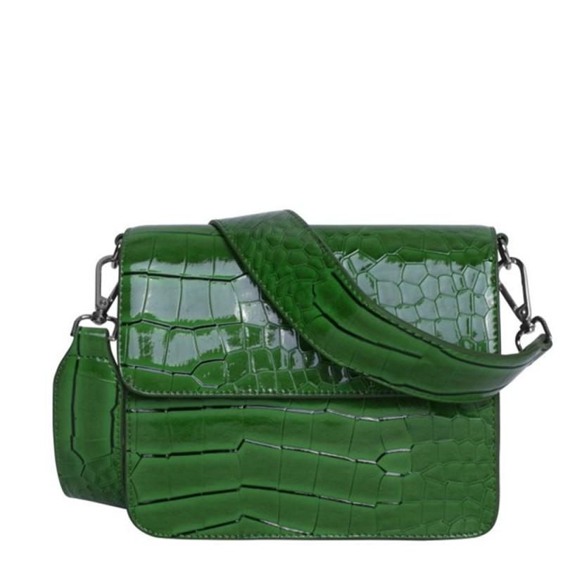 Hvisk skuldertaske, cayman shiny, grass green - størrelse - one size fra hvisk på superlove