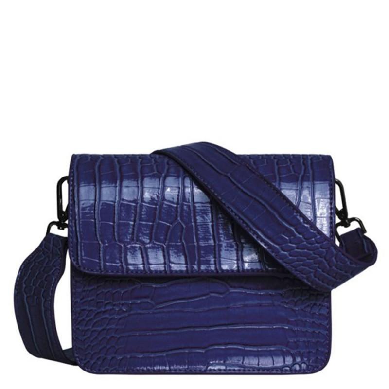 Hvisk skuldertaske, cayman shiny, midnight blue - størrelse - one size fra hvisk fra superlove