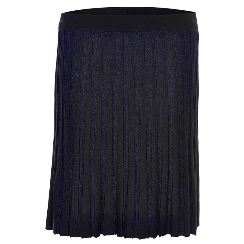 Blå og sort Gry fest nederdel fra Numph