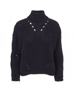 Basic Apparel Sweater, Pico, Night Blue