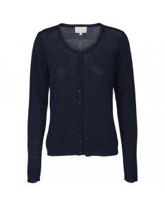 Minus Cardigan, New Laura, Black Iris w. Lurex