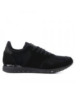 Woden Sneakers, Kathrin Velvet NSC, Black