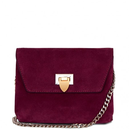 Decadent Taske, Cleva Small Pouch, Suede Oxblood