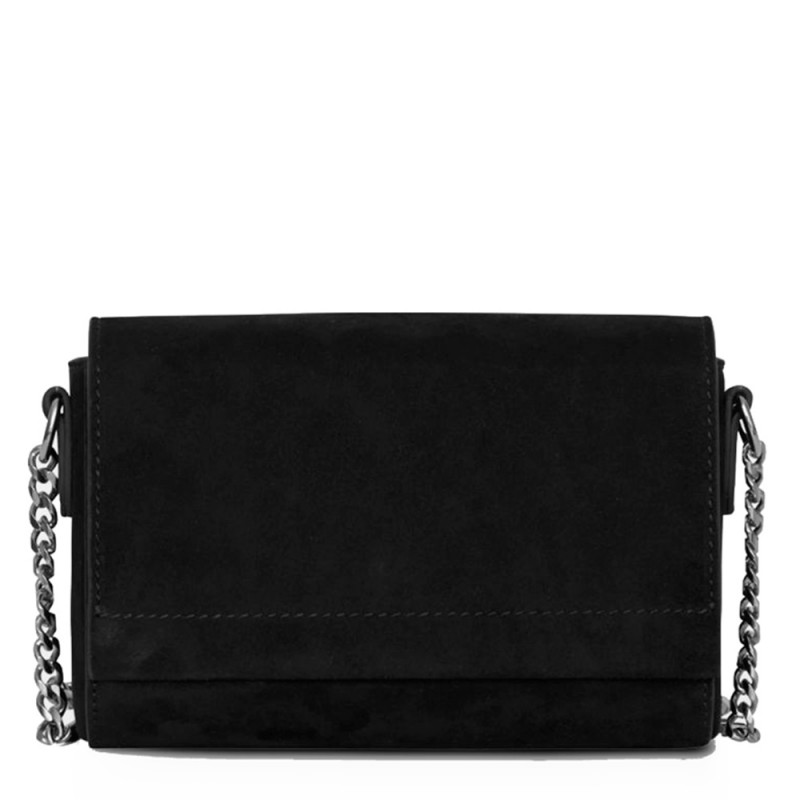 Decadent Taske, Evelyn Cross Body, Suede  Black