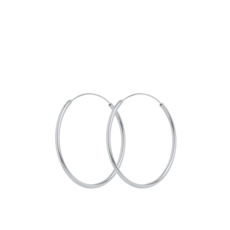 Pernille corydon øreringe, plain hoop 30mm, sølv fra pernille corydon på superlove