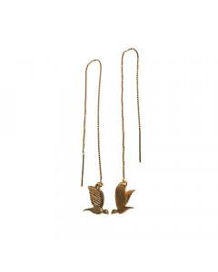 Pendulum, Øreringe, Mini Bird, Guld