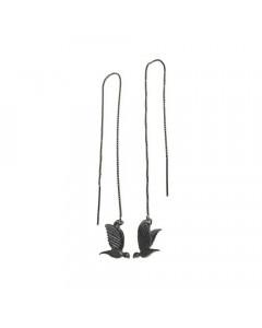 Pendulum, Øreringe, Mini Bird, Oxyderet