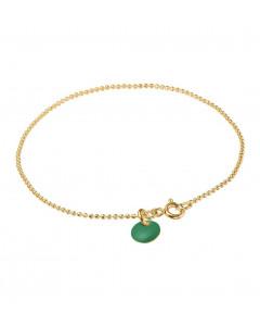 Enamel, Armbånd, Ball Chain, Guld/Petrol Green