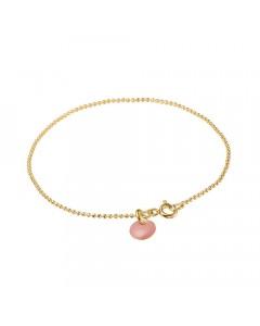 Enamel Armbånd, Ball Chain, Guld/Rosa