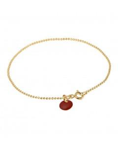 Enamel Armbånd, Ball Chain, Guld/Bordeaux