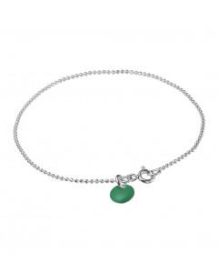 Enamel, Armbånd, Ball Chain, Sølv/Petrol Green