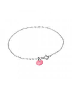 Enamel, Armbånd, Ball Chain, Sølv/Flamingo