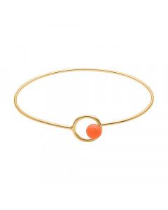Enamel, Armbånd, Lock Bangle, Guld/Clementine