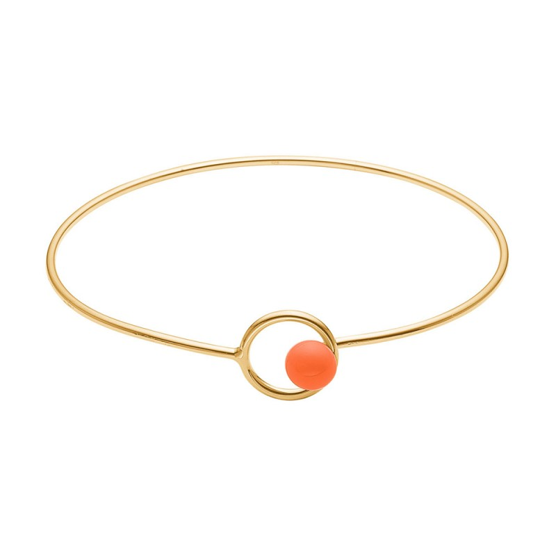 Image of   Enamel, Armbånd, Lock Bangle, Guld/Clementine