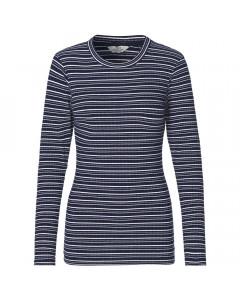 Mads Nørgaard T-shirt, Tuba Cool Stribe, Navy/Ecru